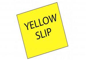 Work pemit yellow slip